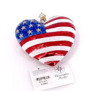 Christopher Radko Brave Heart 2001 Ornament NWT